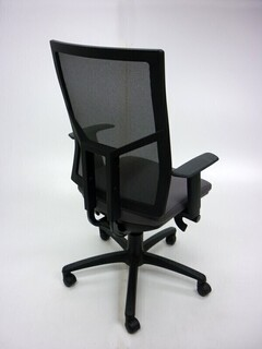 OCEE Design Airo greyblack mesh task chair
