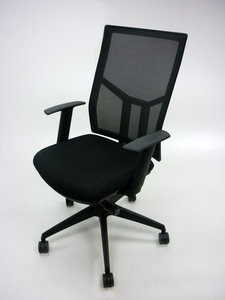 additional images for OCEE Design Airo charcoal/black mesh task chair