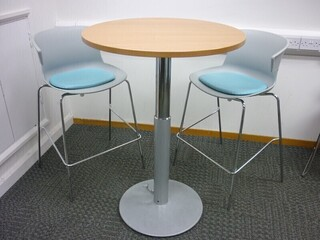Circular height adjustable table - Choice of tops
