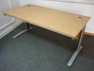 1600x800mm beech desks with pedestal