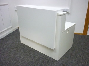 additional images for White 1200x900mm reception counter
