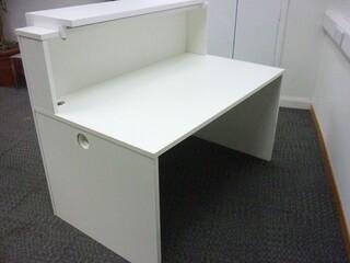 White 1200x900mm reception counter