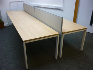 additional images for Bene 1600x800mm Aragon oak bench desks, per user -