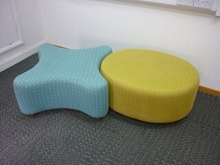 Hitch Mylius blue and yellow OXO seating