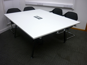 additional images for 1900x1400mm Herman Miller Abak white tables