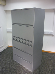 additional images for Office Speciality 1750mm high silver combi unit