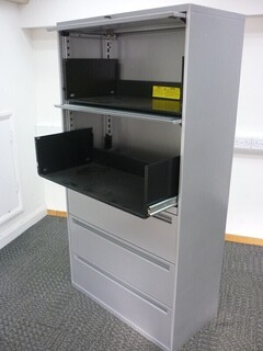 Office Speciality 1750mm high silver combi unit