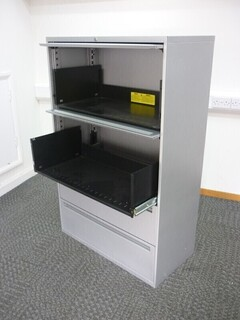 Office Speciality 1440mm high silver combi unit