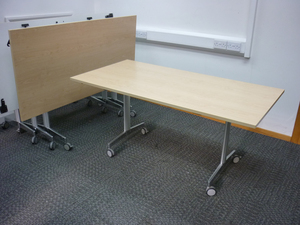 additional images for Howe More maple 1600x800mm top tilt conference tables