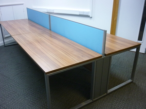 additional images for Sven Ambus walnut bench desking, per person