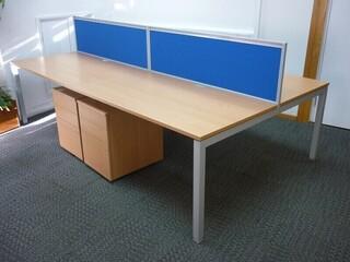 Senator beech 1400x800mm bench desks per user -