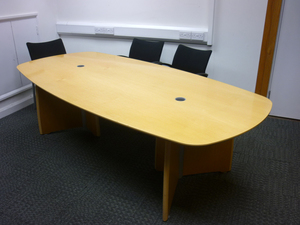 additional images for 2500 X 1200mm Verco Intuition maple boardroom table
