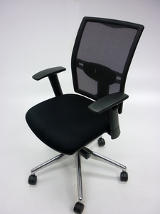 additional images for Elite Loreto black mesh back task chair with arms