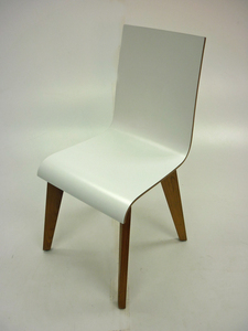 additional images for Frovi Jig white plywood cafe chairs