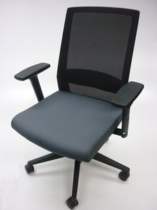 additional images for Mobili Nero grey mesh back task chairs