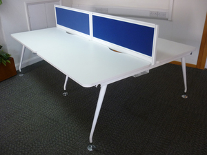 additional images for Mobili Vega white 1120mm bench desks