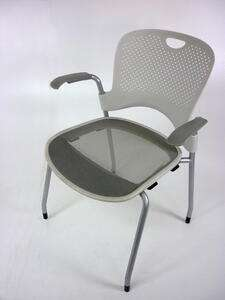 additional images for Herman Miller Caper white stacking chairs