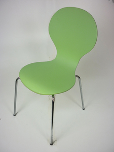 additional images for Lime green Julian Bowen stacking plywood chairs