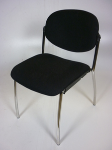 additional images for Systems Seating International black stacking chairs