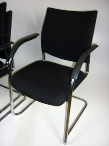 additional images for Kusch & Co black stacking chairs