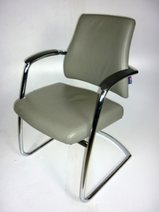 additional images for BMA Axia Visit chairs in grey leather
