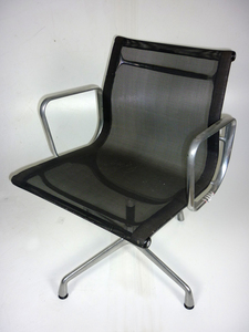 additional images for Vitra Aluminium Chairs EA108 black mesh chairs