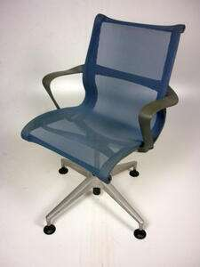 additional images for Herman Miller blue Setu conference chairs