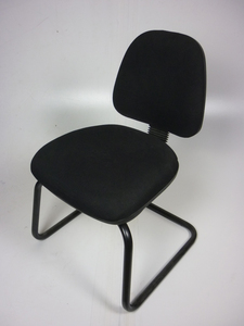 additional images for Black cantilever meeting chairs