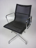additional images for Eames look-a-like black mesh meeting chairs