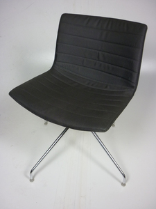 additional images for Arper Catifa 53 grey fabric meeting chair