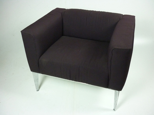 additional images for Arper Sean purple armchairs
