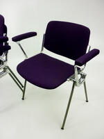 additional images for Castelli Rainbow DSC106 purple stacking chairs with arms