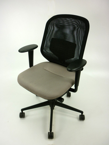 additional images for Vitra Medapal mushroom/black mesh task chairs with arms