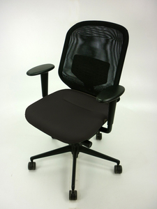 additional images for Vitra Medapal black task chairs with arms