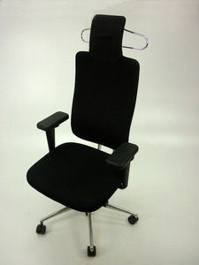 additional images for Vitra HeadLine task chairs in black with aluminium spine