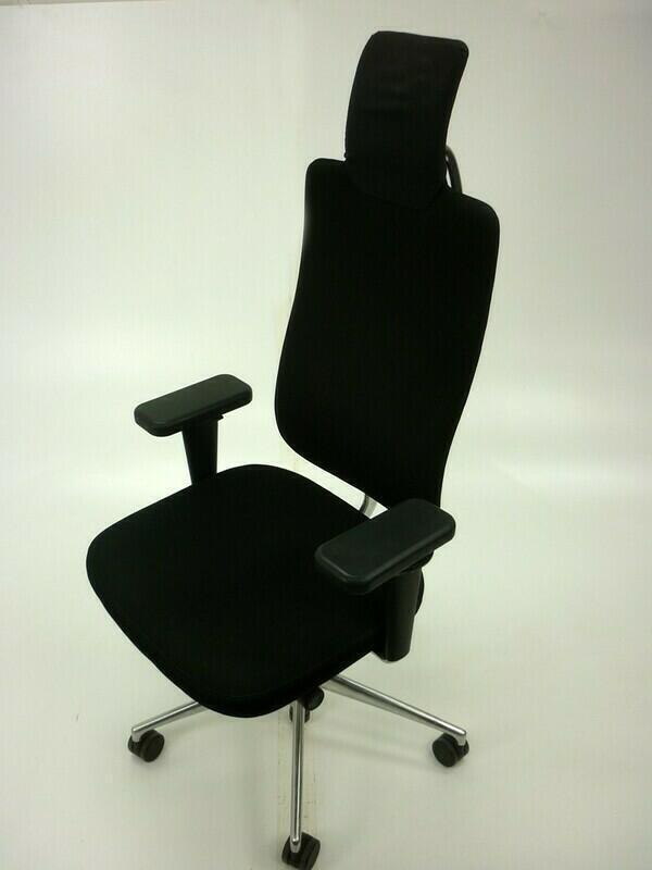 additional images for Vitra Headline black task chair with aluminum spine