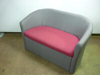 additional images for Grey/pink 2 seater tub sofas