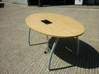 1600x1000mm oak Senator Intrigue oval table