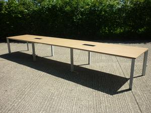 additional images for 5200x1000mm oak Senator Cameleon table