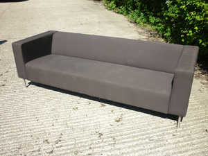 additional images for Brown fabric 3 seater sofas