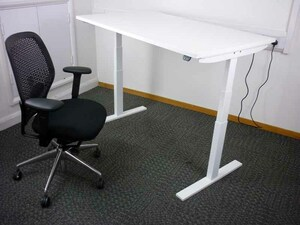additional images for 1100-1800mm wide electric height adjustable desks with choice of top