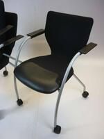 additional images for Black Orangebox X10 mobile meeting chairs