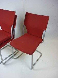 additional images for Red Brunner stacking chairs