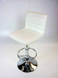 additional images for White faux leather stools