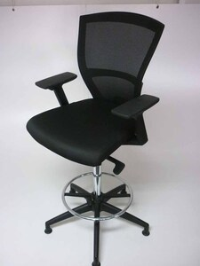 additional images for Besthul E1 black mesh back draughtsmans chair