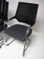 additional images for Sedus Quarterback graphite mesh meeting chairs