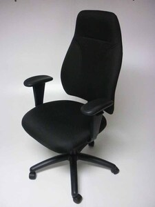 additional images for Black 3 lever high back operator chairs