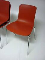 additional images for Vitra Hal Tube brick red stacking chairs