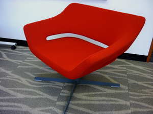 additional images for Hitch Mylius hm85 Solo red fabric armchair