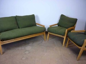additional images for Mark Arris olive green sofa and armchairs